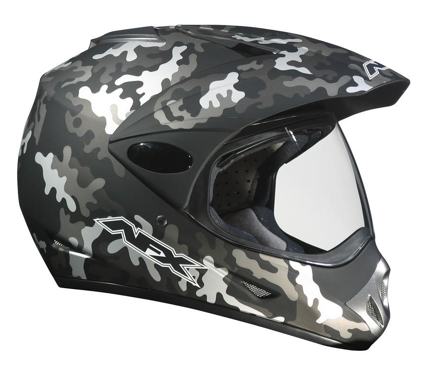 Camo AFX FX-37DS helmet.