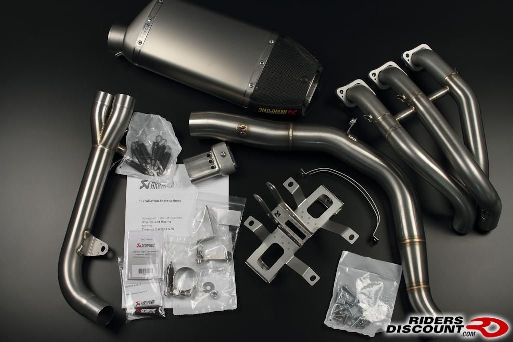 akrapovič triumph 675 racing line full exhaust system & header