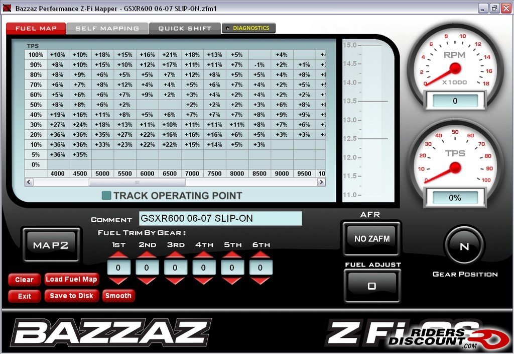 bazzaz performance z fi mx and z afm for the ktm adventure here s what the software looks like